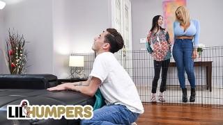 Xxx Sex - Lil Humpers Horká Prsatá Blondýnka Amber Alena Našla Na Hraní Velký Penis
