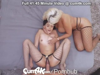 CUM4K Halloween Maids Filled Up With Creampie