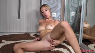 Sexy French Maid MILF Zarina Strips and Masturbates
