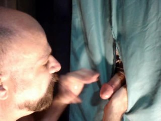 GH#7 Quick cum married guy at Glory Hole (BAD CAMERA ANGLE)