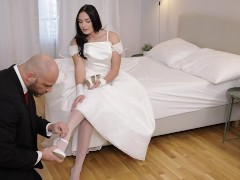 RIM4K. Strong man in awesome wedding suit deserves gentle rimjob