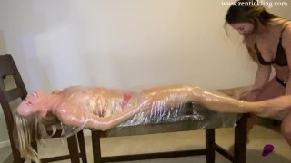 Harley Mummified and Feet Tickled - Zen Tickling Preview