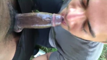 Hung Air Force stud was horny, He couldn't host so he fucked me outdoors.. (Hot sweaty outdoor fuck)