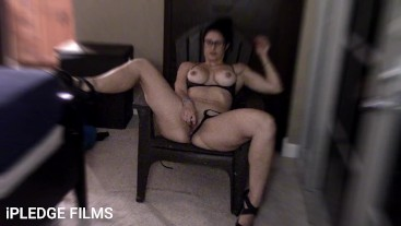 Hot MILF tells dirty story and rubs her pussy. Dirty talk with iPLEDGE