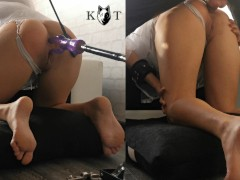 Halloween Bride Ass Destroyed by Machine and a Massive Cock (Anal Destruction)