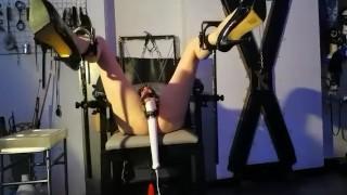 Lesbian BDSM | Magic wand Orgasm | Mistress Regina Milano Dom