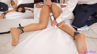 Orgasm torture for latina babe who is tied up and made to cum | My Nina