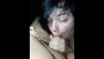 Sucking Daddy Off Till He Cums In My Mouth
