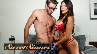 Sweet Sinner Horny Step Mother Jaclyn Taylor Fucks Her New Step Son While there On Family Holidays