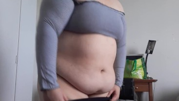 Fat bbw can't fit in clothes after weight gain