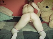 She slaps her ass and then had 2 orgasms from fingering - Tacy Tight