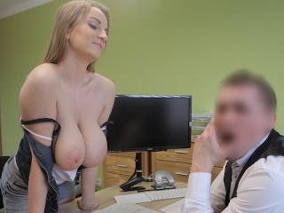 LOAN4K. Loan agent fucks customer as he wants and comes on face