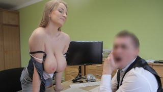 LOAN4K Loan agent fucks customer as he wants and comes on face