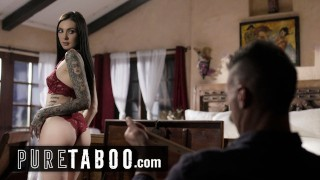 PURE TABOO Marley Brinx Found Her Stepdad's Paddle Collection