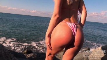 FUCKED a Girl with a Perfect ASS next to a fisherman by the sea // PUBLIC FUCK BJ / Amateur couple