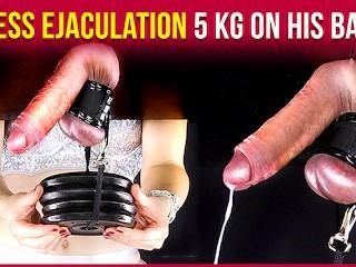 Femdom Milking Gloryhole Torture – 5 KG ON HIS BALLS | Era