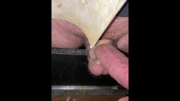 Testing new Milking Toy – Spunk session. The Blackpool Playroom, The Cell and The Playroom Gloryhole