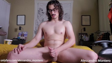 Latino Stud Jerks Off Moans and Cums On Your Face - Alessandro Montero