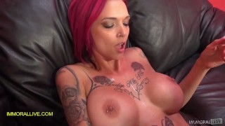 ANNA BELL PEAKS GUSHES LIKE A GEYSER! PERFECT BODY TATTOOED MILF SQUIRTS HER SWEET NECTAR Part 1
