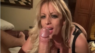 Keiran Lee fucks Stormy Daniels rough in the bedroom, ends with a delicious facial