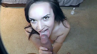 Slutty Teen Pretend To be locked out To Go Blow The Neighbor!