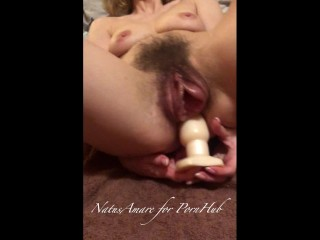 Perverted step-sister lets brother watch her hardcore masturbation and orgasm. POV