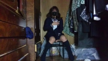 Sex toy crossdresser Honoka masturbation ejaculation.