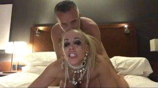 Keiran Lee and Rebecca Moore fuck rough in a London hotel room cumming on her face