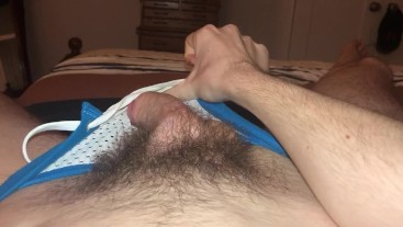 19 year old Jesse Gold plays with his hairy dick and fucks a toy