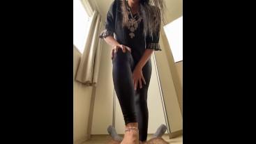 Goddess Kiffa in Sexy black legging pants CBT and kick some balls - GIANTESS POV - CBT 7 -