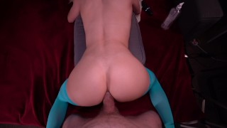HOT LITTLE 18YO TEEN WITH PERFECT ASS TWERKS ON A HUGE COCK LIKE CRAZY AND SHOWS YOU HOW IT'S DONE