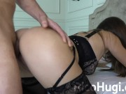 Hot brunette on call hard sex in wife bedroom