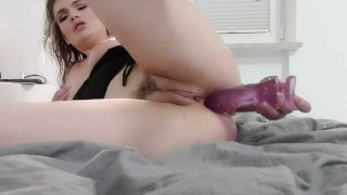 Hot anal dildo moving for hot milf with hot ass hole