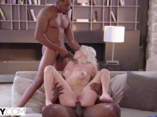 TUSHY Petite Elsa fulfills her anal threesome fantasy