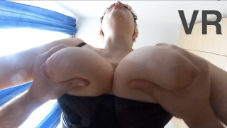 Submissive slut with big natural tits got 2 cowgirl orgasms 360 VR (TRAILER)