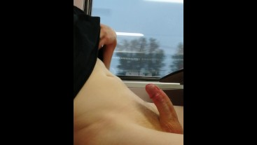 Risky edging while on the train