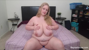 Curvaceous and Plump - Reyna Mae - BBW Blonde MILF Strip Tease Big Tits Dirty Talk Tease JOI Panties