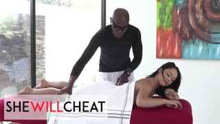 She Will Cheat Sexy Brunette Kristina Rose Jumps On Her Masseur's BBC
