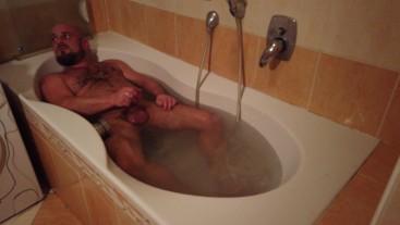 Bathroom daddy wanker - Bathroom Stories part3 Bearded hairy gay bear huge cumshot in the Bathroom