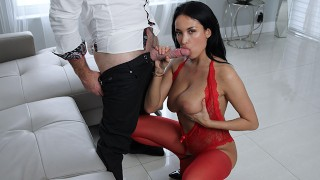 French Milf Drains Cock With Blowjob Skills