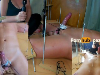 Amateur Femdom CFNM POV Handjob.Bound Cock.Ruined Orgasm after a week of Chasity.Post Orgasm Torture