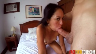 Real Spanish Girl Picked Up On Street and Face Fucked