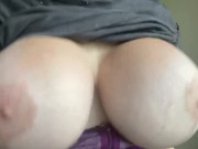 Bouncing my bimbo boobs after gym