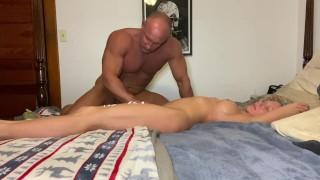 Sexy Sensual lotion massage full body rub down