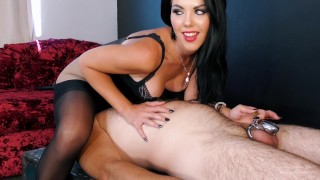Facesitting the Chastity slave – Young Goddess Kim
