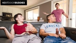 無料の新しいポルノ - Will Braun 友人が一緒にけいれんするルームメイトに近づきます-Nextdoorbuddies