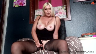 Busty Blond MILF Cums all over her Vibrator | CAM4