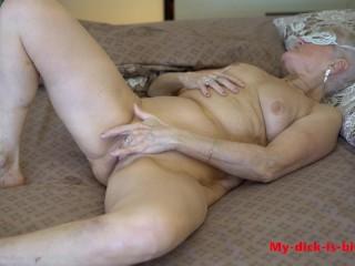 Horny granny masturbate. 4K