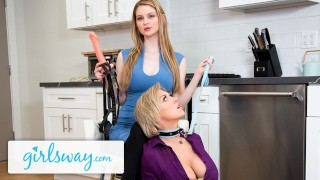 Girlsway Dee Williams Has BDSM Moment With Femdom Bunny Colby