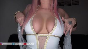 Seductive Goddess Strips And Cums On Dildo